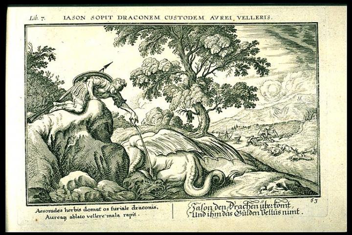Ovid Metamorphoses illustrated by Johannes Baur. Book 7, Plate 63.