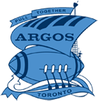 Toronto Argonauts Labour Day logo. The boat the Argo shaped as a football.